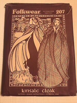 FOLKWEAR Sewing Pattern Instructions #207 Historical Costume KINSDALE CLOAK Coat
