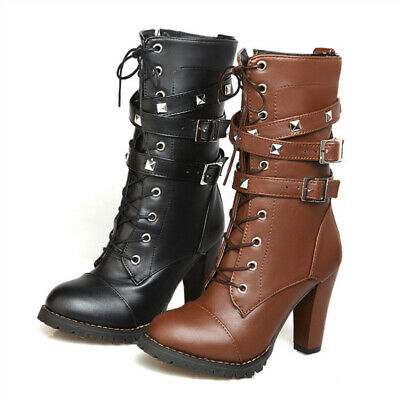 Fashion Winter Women Boots Lace-up, Leather, Platform,  High Heels