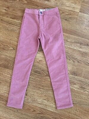 NWOT Zara Girls Collection Pink Cord Skinny Pants 8 years