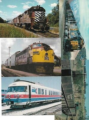 Five (5) US Railway Cards New Unused From Railcards California Lot No 8