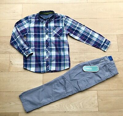 TED BAKER DEBENHAMS *8y BOYS FULL OUTFIT CASUAL SHIRT & NEW TROUSERS AGE 8 YEARS
