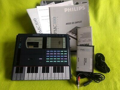80's PHILIPS PMC 100 FM SYNTH WORKSTATION Composer vintage COMPLETO CON CAJA!