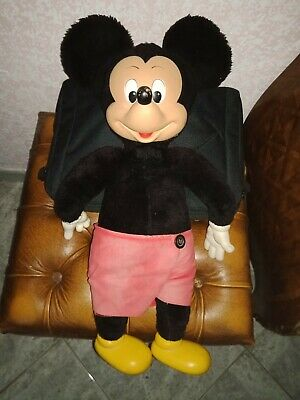 T Rare Old Adorable Doll Mickey Mouse Disney France 60 CM