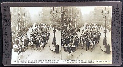 STEREOGRAPH - CORONATION OF KING GEORGE V, Antique 1911, Geo. Rose. 11,889