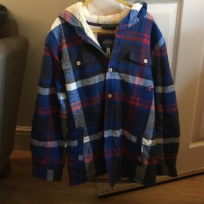 Joules Boys Hooded Lined Shirt Age 9-10yrs