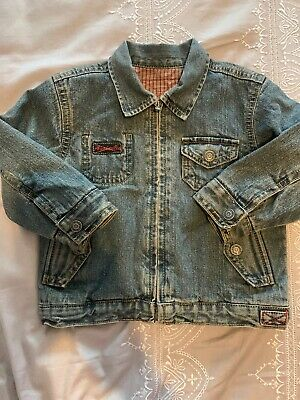 Boys Marks And Spencer Denim Jacket Coat. Age 1-2 Years. Lined