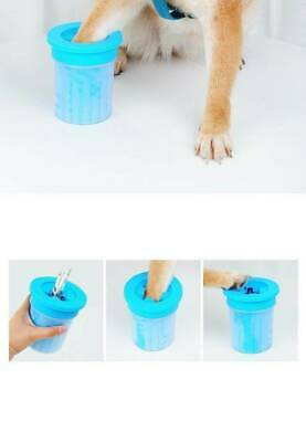 Portable Dog Cat Paw Cleaner Pet Cleaning Brush Cup Cleaner Foot Washer Dog C1Y9