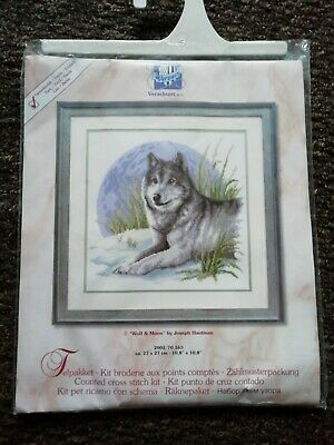 """Wolf wolve Complete Counted Cross Stitch Kit 11.2/"""" x 10.8/"""""""