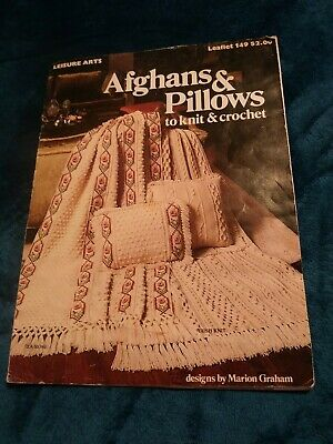 Afghans /& Pillows to Knit /& CrochetLeisure Arts 149