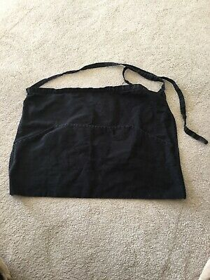 Waitress Apron In Black, With Pockets