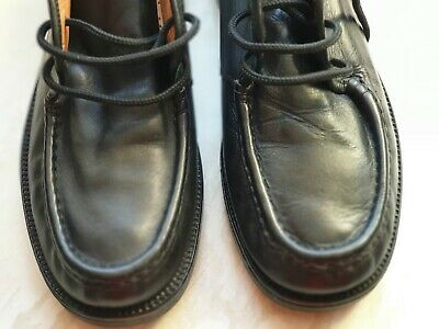 Men's SAXONE Size EU 42 UK 8 Smart Black Lace up Shoes