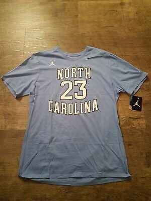 Nike north Carolina tarheels unc blue air Michael Jordan mj aj #23 shirt sz xl