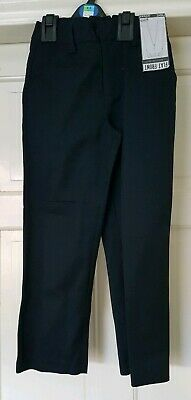 BNWT NEXT Boys Black School Trousers Age 7 6-7 Years Adjustable Waist