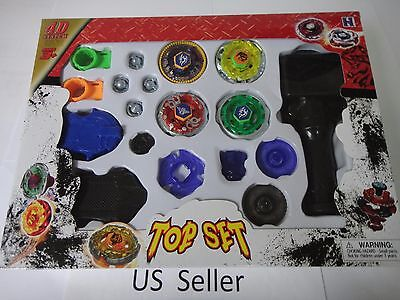 4D Launcher Grip Beyblade Set Metal Master Fusion Top Rapidity Fight set #2 USA