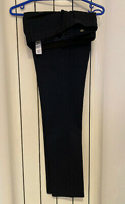 Next Mens Navy Blue  Super Skinny Fit Trousers Immaculate 32w/31 Leg