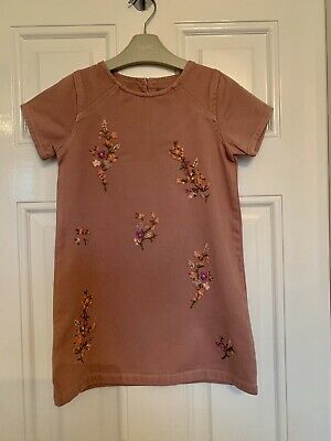 Next Girls Dusky Pink Floral Dress Age 5 Years