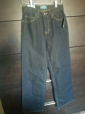 New Boys Old Navy Loose Ample Dark Blue Wash Jeans Size 12 Slim