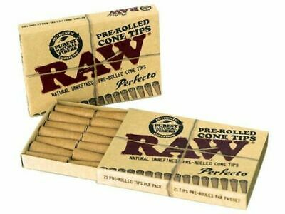 Raw Pre-Rolled Cone Rolling Filter Tips 21 tips/booklet (sample/1/2/5/10/20) pcs