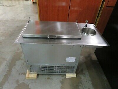 Glastender DI-FR36-DW - 2-Section Drop-in Ice Cream Freezer w/Dipperwell
