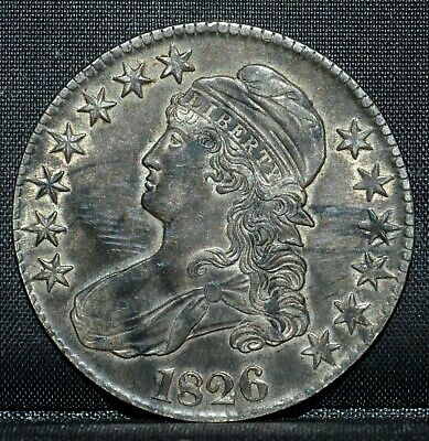 1826-P Capped Bust Half Dollar ✪ Au About Unc ✪ 50C Silver L@@K Now ◢Trusted◣