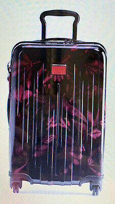 New Tumi V4 International Carry-On FLORAL TAPESTRY BLACK PINK $595