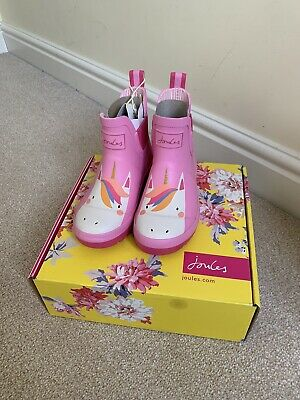 Joules Girls Unicorn Chelsea Wellies Size 12 Infant *BNIB*
