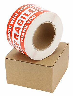 1 Roll 3x5 Large Fragile Stickers Handle with Care Labels 500/Roll Easy Peeling