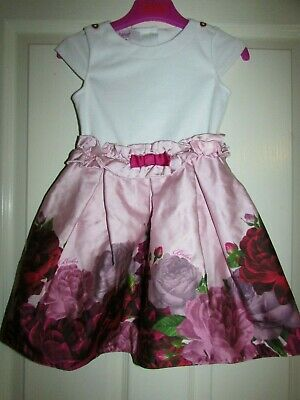girls pretty white/pink floral dress from Ted Baker age 3-4yrs
