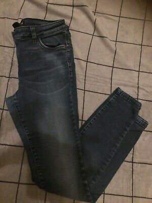 Womens Next Blue Denim Skinny Jeans Size 14 Regular Immaculate Condition