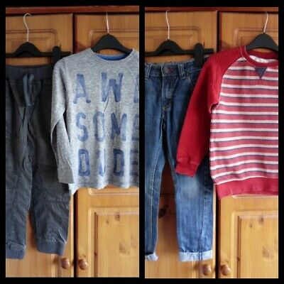 Boys outfits bundle jumper,top and bottoms Next,Zara 5-6 Years