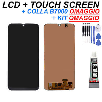 Display LCD + Touch Screen Samsung Galaxy A20 A205F/DS FN/DS Schermo Vetro Nero