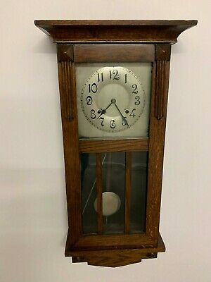 Wooden Cased Antique Gilbert No. 3001 Wall Clock By Wm. L. Gilbert Clock Co.
