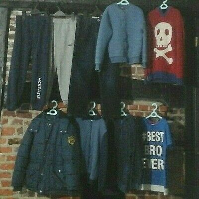 Boys Clothes Bundle Age 7-8 Years winter warmers, Coat, jumpers, joggers Next