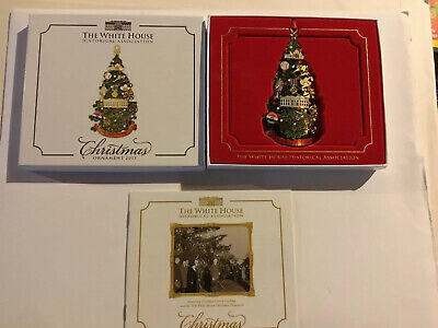 2015 White House Historical Association Christmas Ornamentw/Box And Paperwork