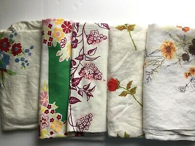 Lot Of 5 Cutter Vintage Printed Tablecloths - 011809