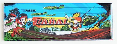 Cabal Marquee FRIDGE MAGNET (1.5 x 4.5 inches) arcade video game header