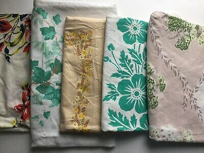 Lot Of 5 Cutter Vintage Printed Tablecloths - 011811