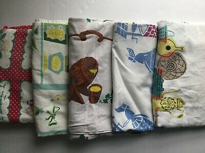 Lot Of 5 Cutter Vintage Printed Tablecloths - 011812