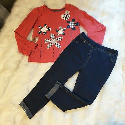 Girls 2-3 years Bundle bee floral Top jeans trousers jeggings outfit Next Day