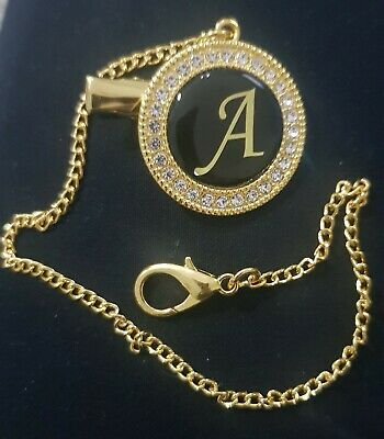Baby girl/Boy Bling Stone gold Dummy/pacifier chain clip,new,initial A,nice gift
