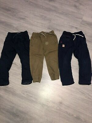 NEXT Boys Age 3-4 Trousers (x3 Pairs In Bundle)
