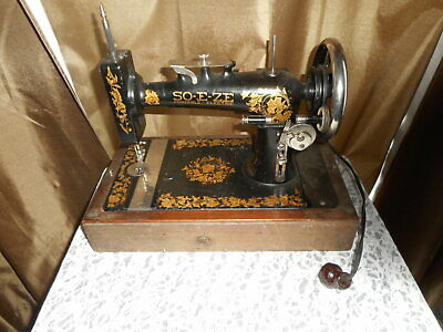 Antique So - E - Ze Portable Electric Sewing Machine With Dome Top #T No. 3