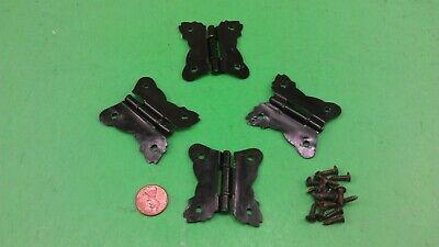 4 Antique Vintage Cabinet Doors Hinges In The Shape Of Butterfly
