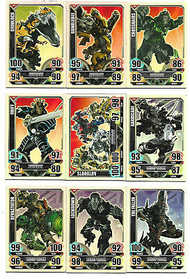 TRANSFORMERS Complete 16 Rare Rainbow Foil Card Set - TOPPS