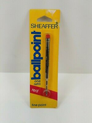 Vintage Sheaffer fine point ballpoint pen refill RED  NOS