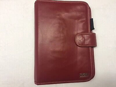 """Day One Franklin Covey Red Organizer/Planner 7 Ring 10"""" x 7"""" Zipper Pocket"""