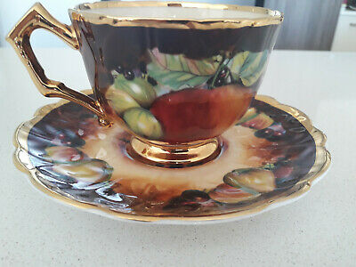 Marquis Fine China England Tea Set Cup & Saucer Hand Painted