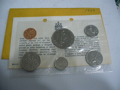 1969  Canada   Proof  Like Set  Coins  Dollar  Half Dollar Quarter  Dime Nickel
