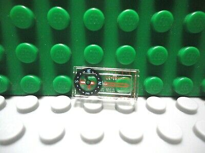 Lego New Trans-Clear Tile 1 x 2 with Audio Cassette and Magenta Microphone