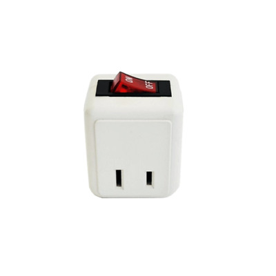 2-Prong Indoor Wall Tap with Lighted On/Off Power Switch Single Outlet  ETL